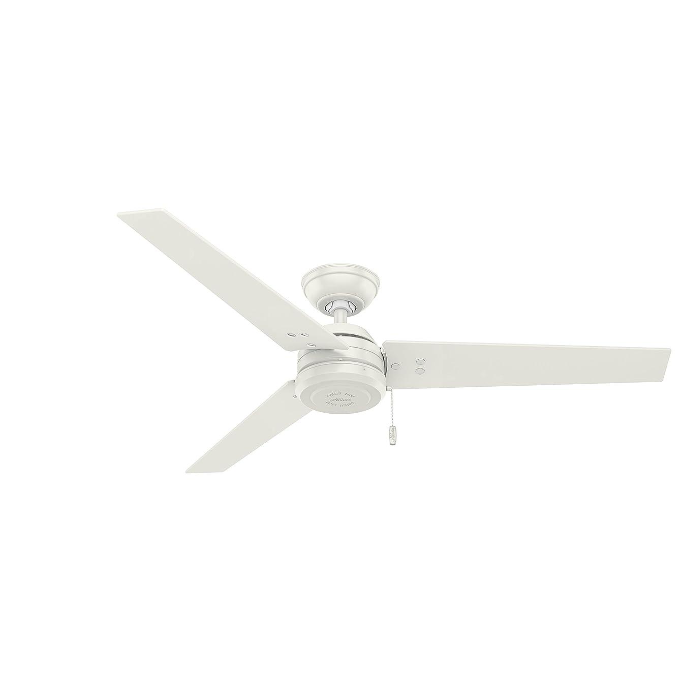 Hunter Fan Company 59263 Cassius Fresh White Ceiling Fan, 52