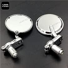 SEMT- 1 inch Bar End Mirrors Compatible With Aprilia Vespa Kymco Piaagio Agusta Ktm Bmw Chrome [B074NJ89J6]