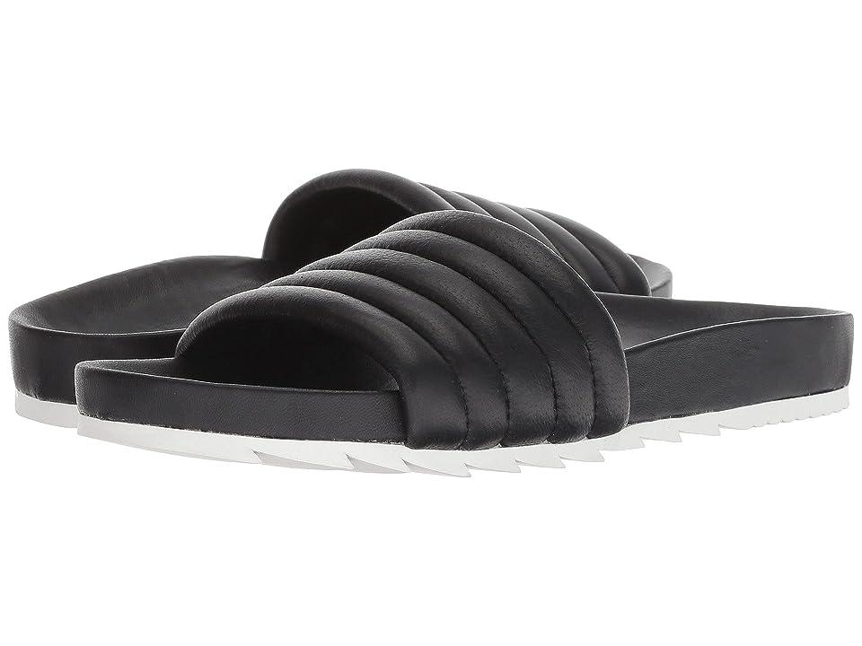 J/Slides Eppie (Black Leather) Women