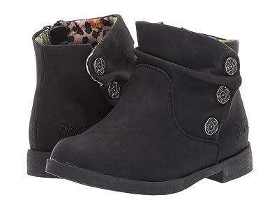 Blowfish Kids Saber-T (Toddler/Little Kid) (Black Adobe PU) Girls Shoes