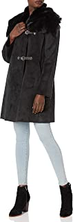 Calvin Klein Women's Faux Shearling Coat with Buckle Closure