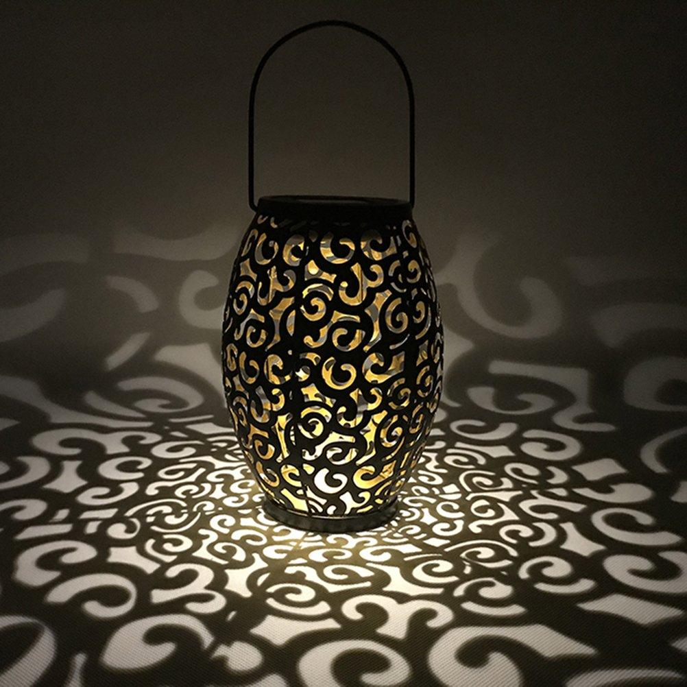 LEDMOMO - Farol solar LED para colgar en la silueta marroquí, luces solares para exteriores, iluminación de jardín, lámpara impermeable para patio patio patio: Amazon.es: Iluminación