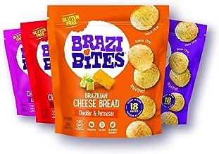 Brazi Bites Gluten-Free Brazilian Cheese Bread: Variety-Pack|VegetarianFrozen Bread Snacks|Soy-Free |No Artificial I...