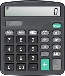 Calculator,Vilcome 12-Digit Solar Battery Office Calculator with Large LCD Display Big Sensitive Button, Dual Power Deskto...