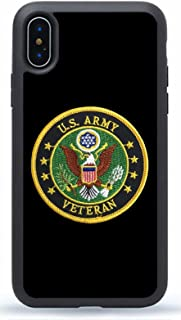 Deal Market LLC - US Army Veteran - Hard Rubber Phone case for Apple iPhone XR (2018 Model)- Custom Made and Shipped from USA