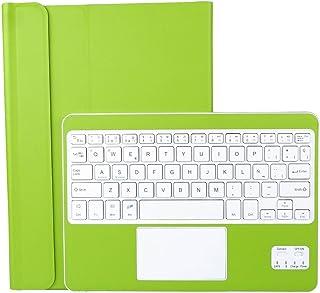 CoastaCloud Funda con Teclado Bluetooth Teclado Bluetooth Inalámbrico 3.0 QWERTY Español con Multi Touchpad - Compatible 9-10.6 Pulgadas Cualquier Windows/Android OS Tablet PC (Verde)