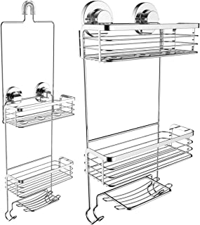 Vidan Home Solutions Shower Caddy Dual Installation (Hanging or Mounted)| Rustproof, Multi-Shelf/Basket Shower Organizer Includes soap Dish and Hooks for Razor, Towels, Shampoo and Conditioner