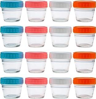 Lawei Lot de 16 Récipient de Conservation des Aliments hermétiques Pots de Conservation Verre sans BPA pour Bébé - 4 Color...
