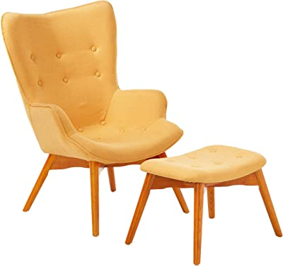 Christopher Knight Home Hariata Fabric Contour Chair Set, Muted Yellow