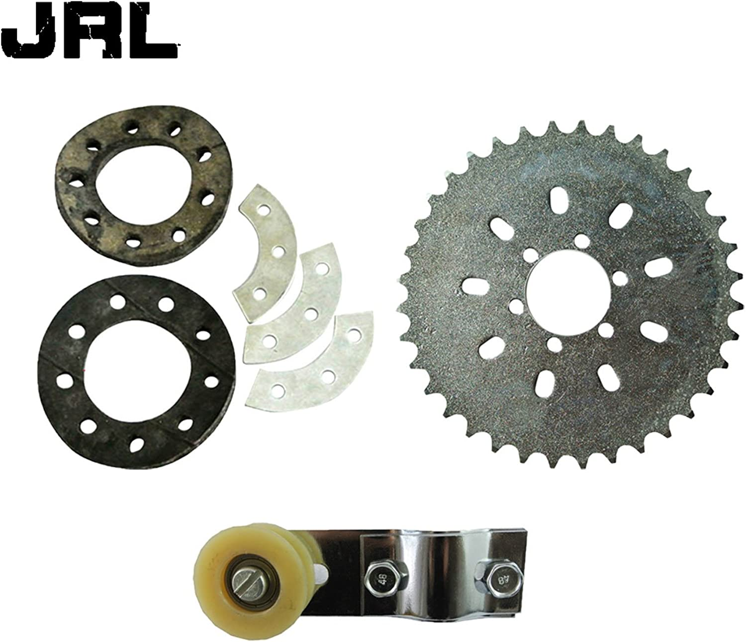 JRL 6 Holes 36 Teeth Sprocket&Chain Tensioner For 66cc 80cc Engine Motorized Bicycle