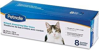 Petmate Drawstring Hi-Back Litter Pan Liner, Jumbo, 8-Pack