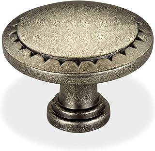 Meubelknop FRIEDA Ø 33 mm oudzilver optiek Keukenknop van SOTECH
