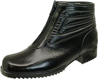 [アキレス] コザッキー COSSACKY 6490 G-64 ビジネス ラバーブーツ 黒 ファスナー付き 防寒 防水 防雪