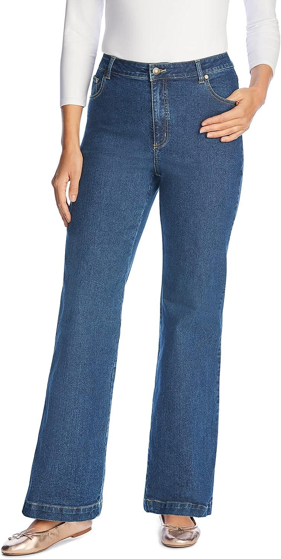 Woman Within Women's Plus Size Wide Leg Stretch Jean
