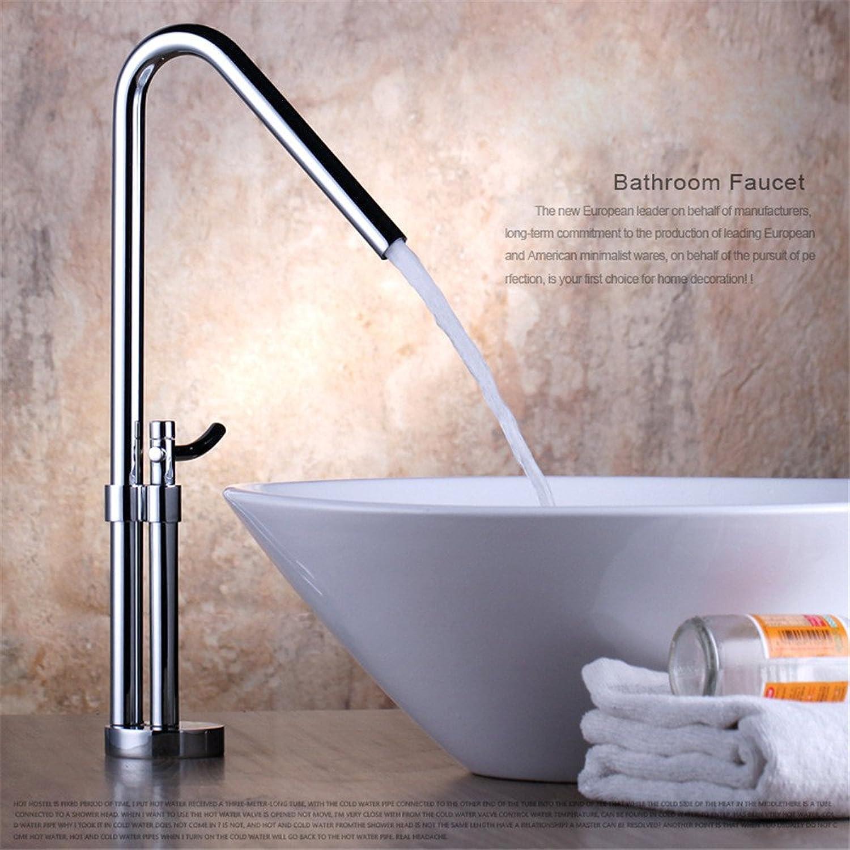 AOEIY Wasserhahn Küchen Mischbatterie Kupfer hei und kalt High-End-Erhhung Waschtischarmaturen Mixer Spültisch Armatur Bad Spülbecken Spültischbatterie badezimmer Küchenarmatur Edelstahl
