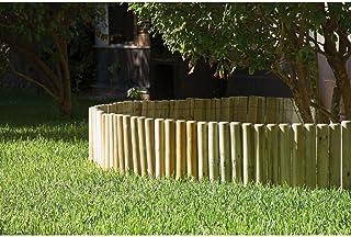 Catral 31010009 - Bordura flexible de madera tratada 20x150 cm. diam. 5 cm.