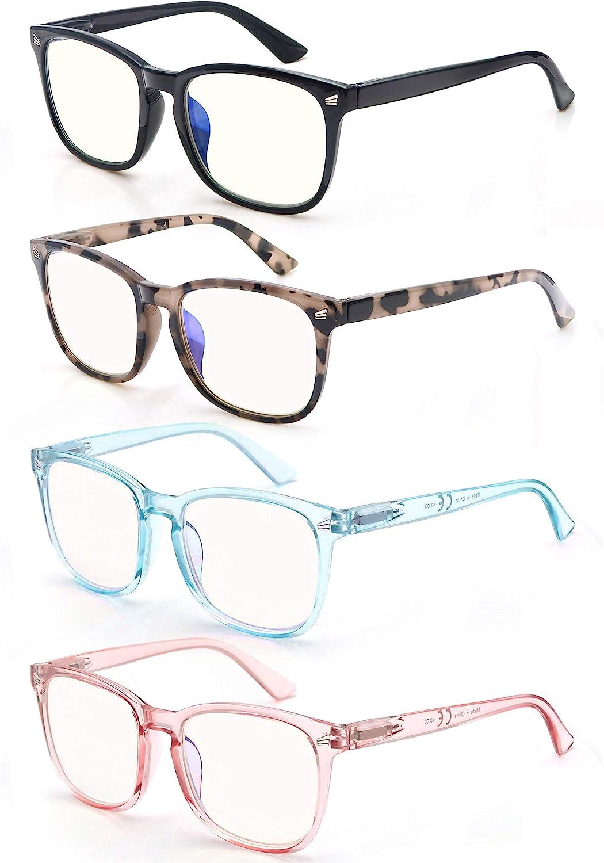 Buy Womens Reading Glasses Blue Light Blocking Readers 20.20 for ...