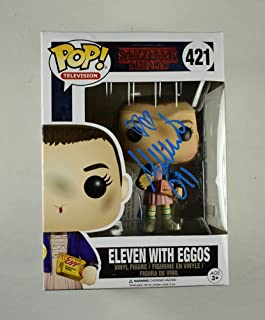 Millie Bobby Brown Stranger Things 011 Signed F unko Pop Doll Certified Authentic Beckett BAS COA