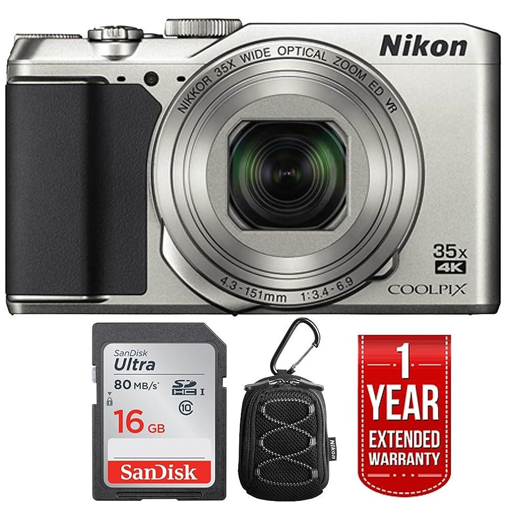 Nikon 26505B COOLPIX A900 20MP 4K WiFi Digital Camera w/ 35x Optical Zoom Silver + 16GB Bundle (Renewed)