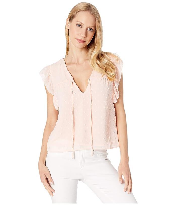 BB Dakota  All Night Long Swiss Dot Chiffon Top (Petal) Womens Clothing