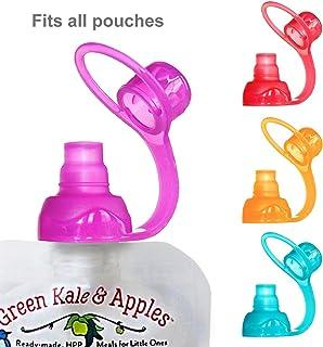 ChooMee Softsip Food Pouch Tops 4 Pack Red Purple Orange Aqua