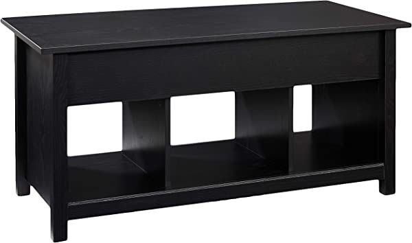 Rockpoint Argus Lift Top Wood Coffee Table Penguin Black