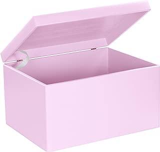 Grinscard Caja de Regalo Grande de Madera para el Nacimiento de Las Niñas - Lacado Rosa Pálido - 40 x 30 x 24 cm XXL