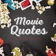Best movie quotes calendar 2019 Reviews
