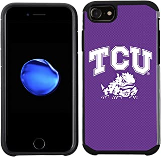 Prime Brands Group Textured Team Color Cell Phone Case for Apple iPhone 8/7/6S/6 - NCAA Licensed Texas Christian Universit...