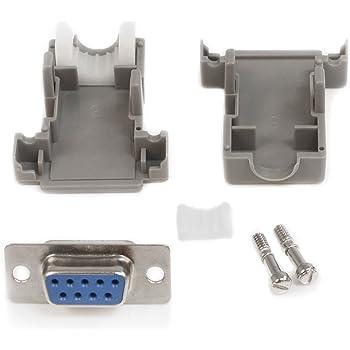DE9P-K87 Plug D Sub Connector DE9P-K87 9 Contacts Original D Series Solder DE Metal Body DB9 Pack of 5