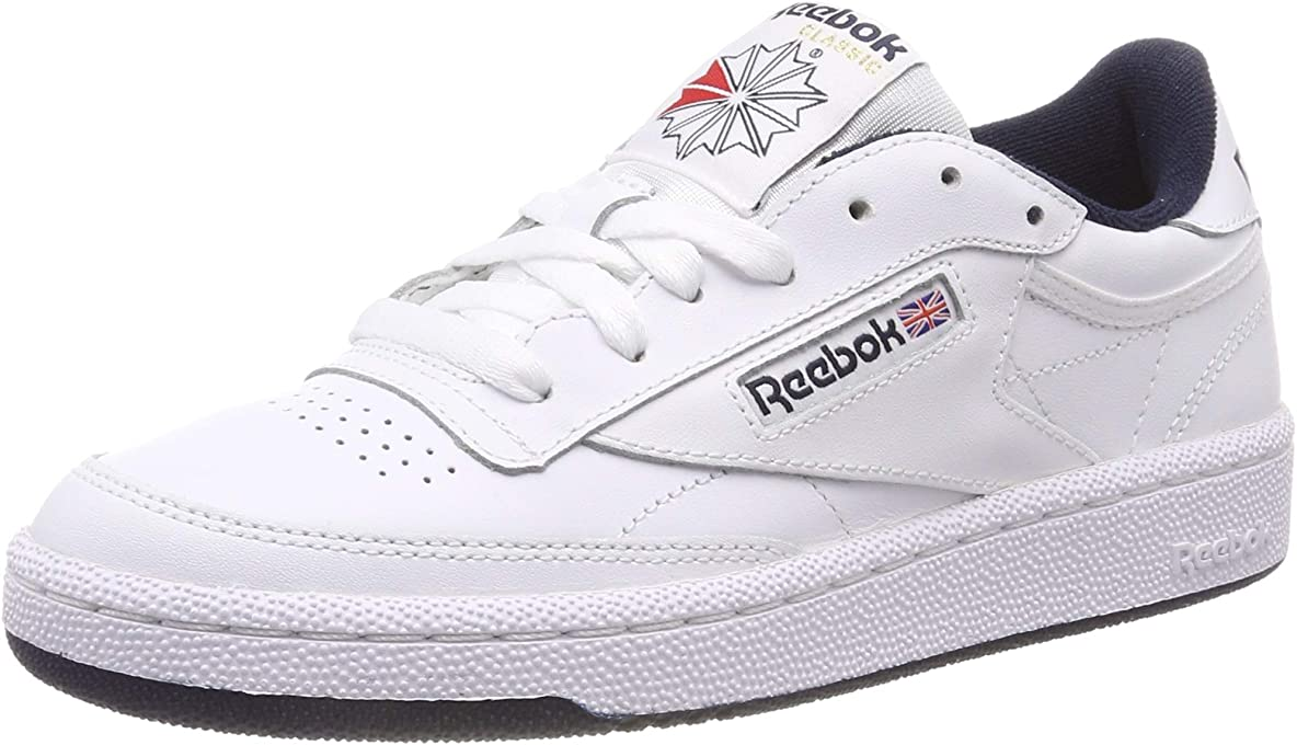 Reebok Men's Club C 85 Trainers, Intense White/Navy