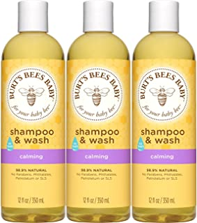 Burt's Bees Baby Shampoo & Wash, Calming, 12 Ounces (Pack of 3) (Packaging May Vary)