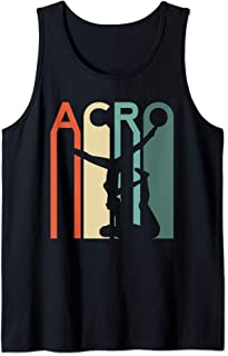 Acro Yoga Retro Vintage Yoga Couple Hot Gymnastics Gym Flip Tank Top