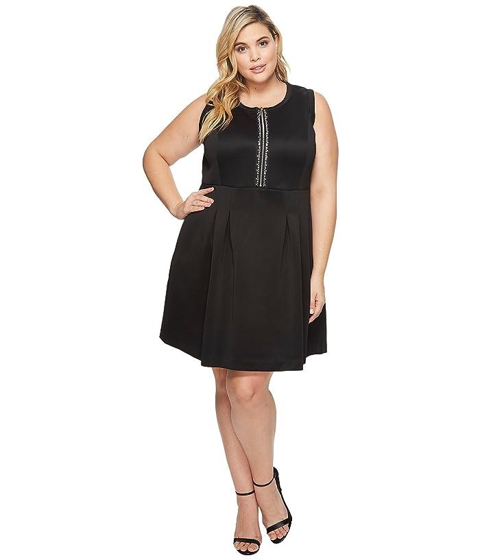 MICHAEL Michael Kors Plus Size Rhinestone Zip Flare Dress   6pm