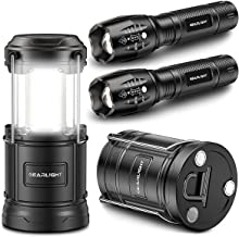 GearLight S1000 LED Tactical Flashlight with Holster [2 Pack] + GearLight Sunlit Lantern with Magnetic Base [2 Pack]