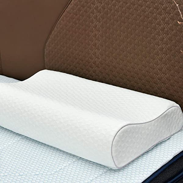 Memory Foam Pillow Iyee Nature By Molblly Adjustable Bed Queen Pillows For Sleeping CertiPUR US Approved Adjustable Height Neck Cervical Pillow For Side Back Stomach Sleepers