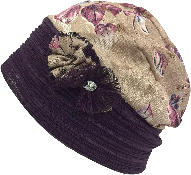 CHARM  Casualbox Womens Summer Flower Hat Retro Design Cooling Ladies