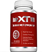 Premium Hair Vitamins For Hair Growth ? HairXT100 Premium Hair Supplement Helps Grow, Thicken & Prevent Hair Loss ? Includes Over 20 Essential Natural Hair Care Vitamins ? 60 Tablets