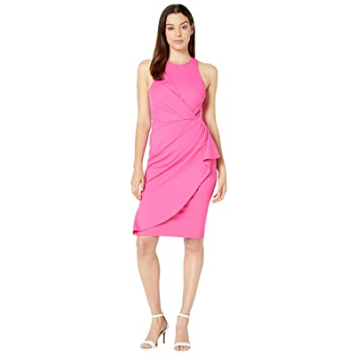 Laundry by Shelli Segal Ruched Cocktail Dress (Lipstick Pink) Women