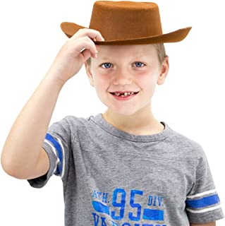 Cowpoke Cowboy & Cowgirl Hat – Children's Unisex One-Size Brown Hat for Halloween Costumes, Cowboy/Cowgirl Outfits, Dress Up & Western Theme Birthday Parties Accessories – Fun Kids Party Hats