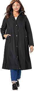 Women's Plus Size Water Repellent Long Raincoat
