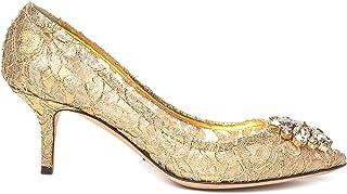 DOLCE E GABBANA Luxury Fashion Womens CD0066AE63780997 Gold Pumps   Season Permanent