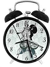 22yiihannz Stylish Modern Alarm Clock-3.8inch,Statue of Athena on Baroque Ancient Greek Mythology-No Ticking,Soft Night Light,Good Gift for Decorating The Room