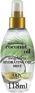 OGX Hair Oil, Nourishing+ Coconut Oil, Weightless Hydrating Oil Mist Spray, 118 ml