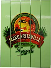Margaritaville Outdoor Patio Wall Art Decor Pine Wood Tequila Beach Sign, Green
