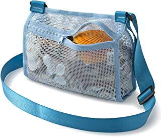 Tenrai Seashell Mesh Tote, Shell Bag, Beach Toy Bag, Toy Bags, Kids Sandboxes, Nets Bag (Blue)