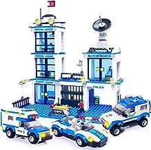 کیت ساختمان ایستگاه پلیس Police WishaLife 716 قطعه ، اسباب بازی ماشین پلیس ، ست های شهری ، مجموعه پلیس با ماشین پلیس و گشت زنی برای پسران و دختران 6-12