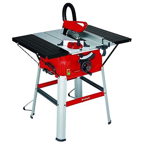 Einhell Table de sciage TC-TS 2025 U (2000 W, 24 dents, Hauteur de travail : 830 mm, Piètement, Support pour la clé, Poussoir)
