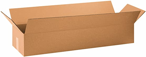 """Aviditi 34106 Long Corrugated Cardboard Box 34"""" L x 10"""" W x 6"""" H, Kraft, for Shipping, Packing and Moving (Pack of 10)"""