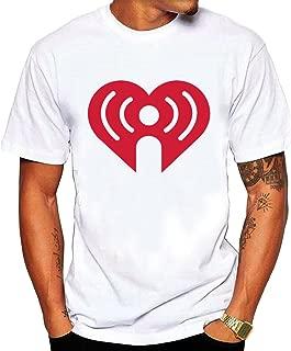 Men's iHeart Radio shirts White Short Sleeves